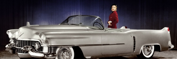 1950s cadillac haute couture ads vogue cover models - An