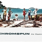 """Retail counter display for Chromspun Swimsuits. Kodak Eastman Chemical Co. Chromspun Fibers Colorama 88 1955 featured Jean Patchett, Dolores Hawkins, Ruth Neuman Derujinski, Tippi Hedren, Claire Griswold, Kathy Dennis, Jan Rylander and unidentified models wearing 'Chromspun"""" Fiber Swimsuits 5/9 - 5/30/1955 by photographer Larry Guetersloh made at Megans Bay St. Thomas (US Virgin Islands). Eastman Chemical Co's Chromspun fibers were featured with New York's highest Fashion Models in this and three other Coloramas between 1954-1956, perhaps the most costly photos in the entire program. Janet Laue-Curry, manager, Consumer Fabrics, Eastman Chemical New York assisted on styling, and remembered how meticulous Larry arranged the foliage shadows. Eastman got their money's worth with additional Colorama presence in double-page fashion magazine ads, and in major store window displays."""